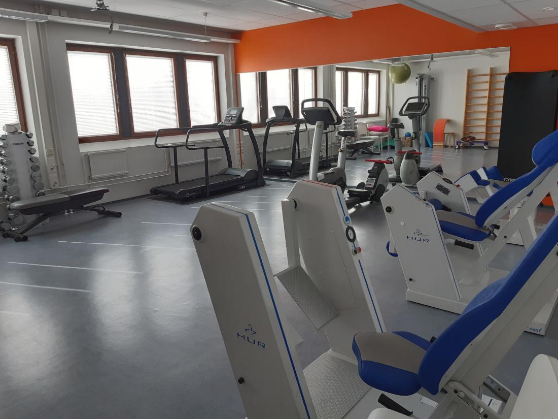 Fysios Helsinki Itäkeskus terapiasali