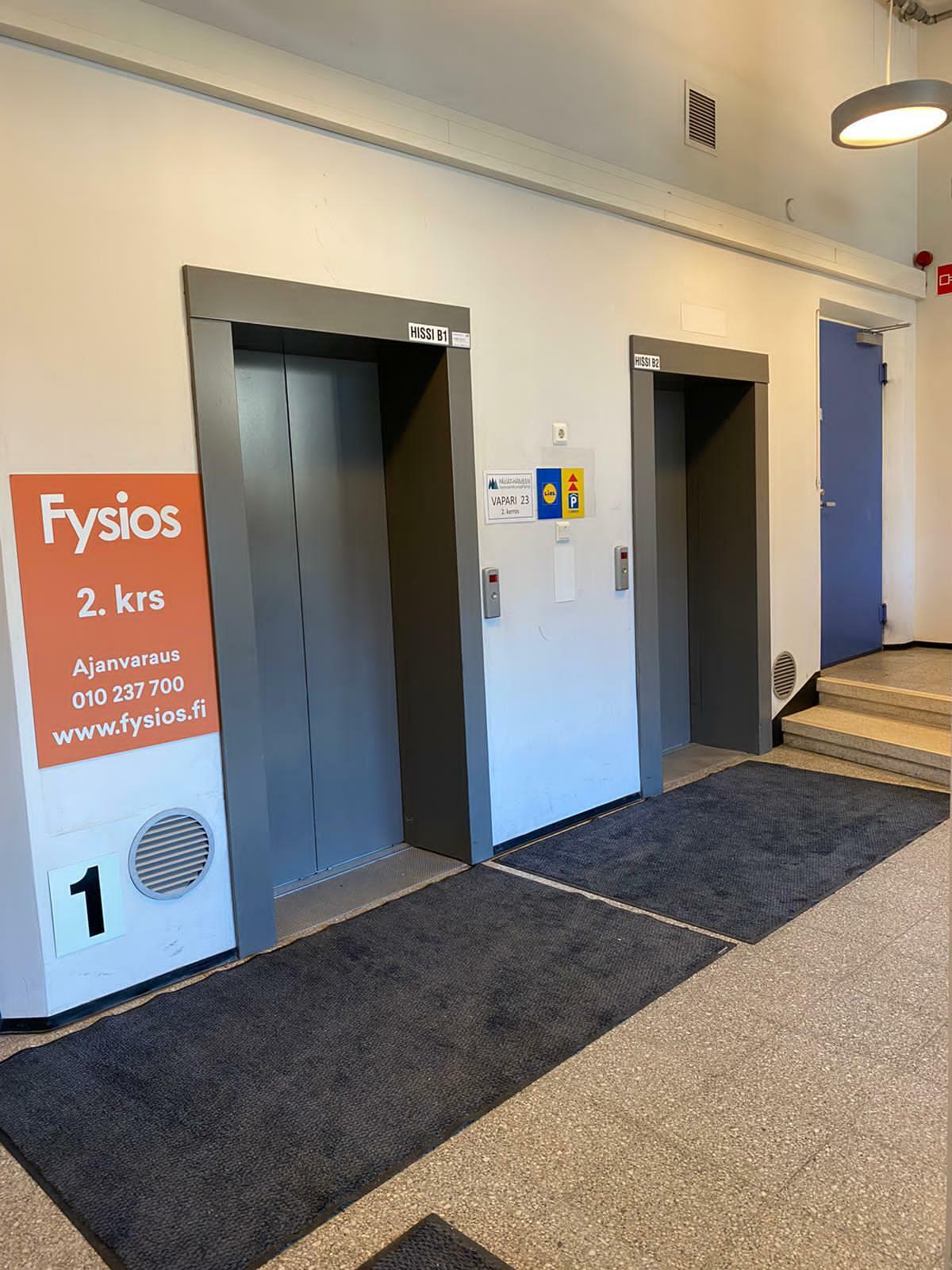Fysios Lahti Vapaudenkatu hissi