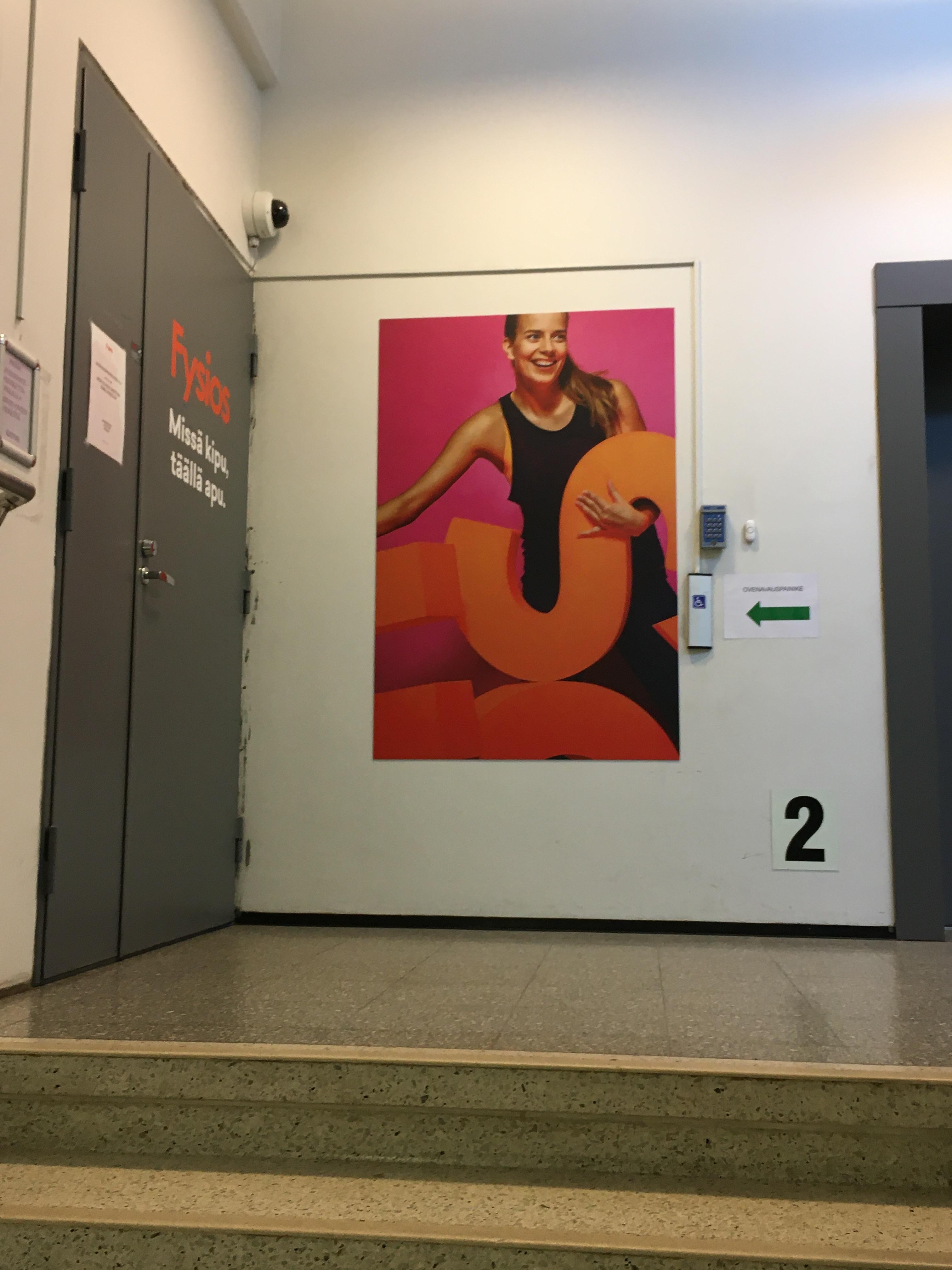 Fysios Lahti Vapaudenkatu toimipisteen ovi