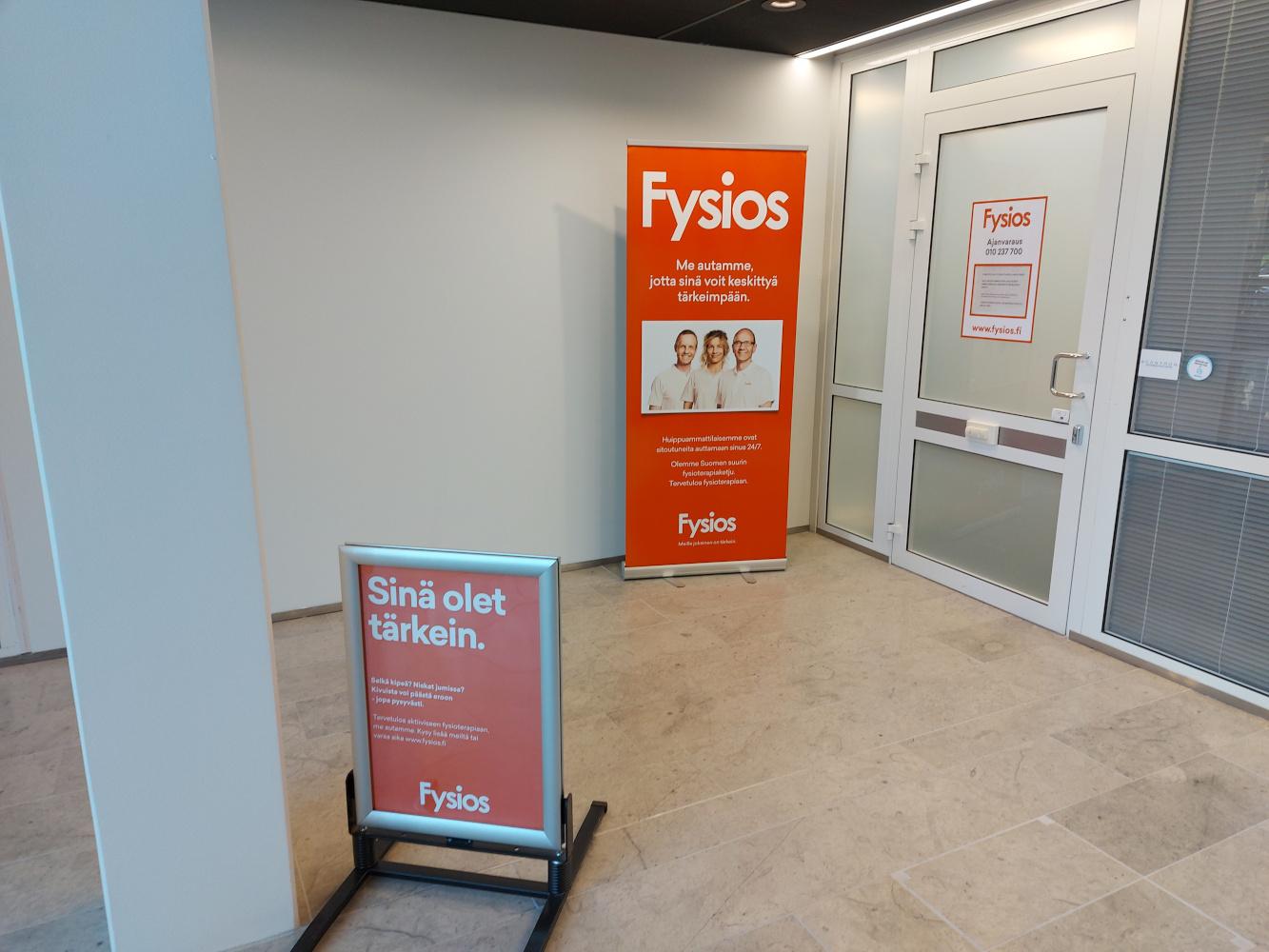 Fysios Espoo Tapiola Spektri sisääntulo