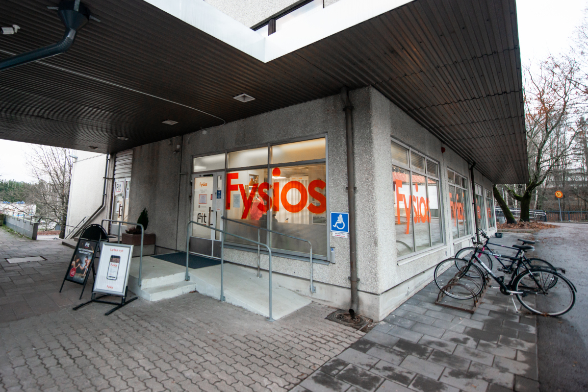 Fysios Espoo Viherlaakso ulko-ovi